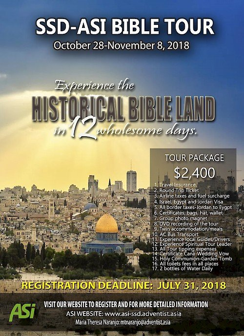 Bible Land Tour 2018